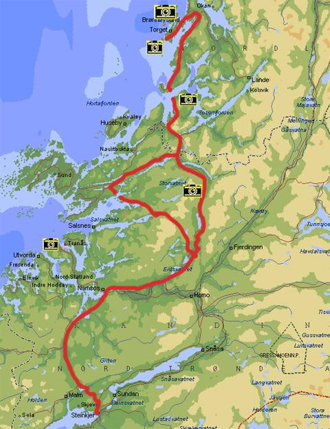 Karte Norwegen Mit Polarkreis.Rv 17